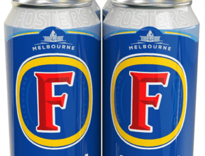 Flinders station logo on fosters can